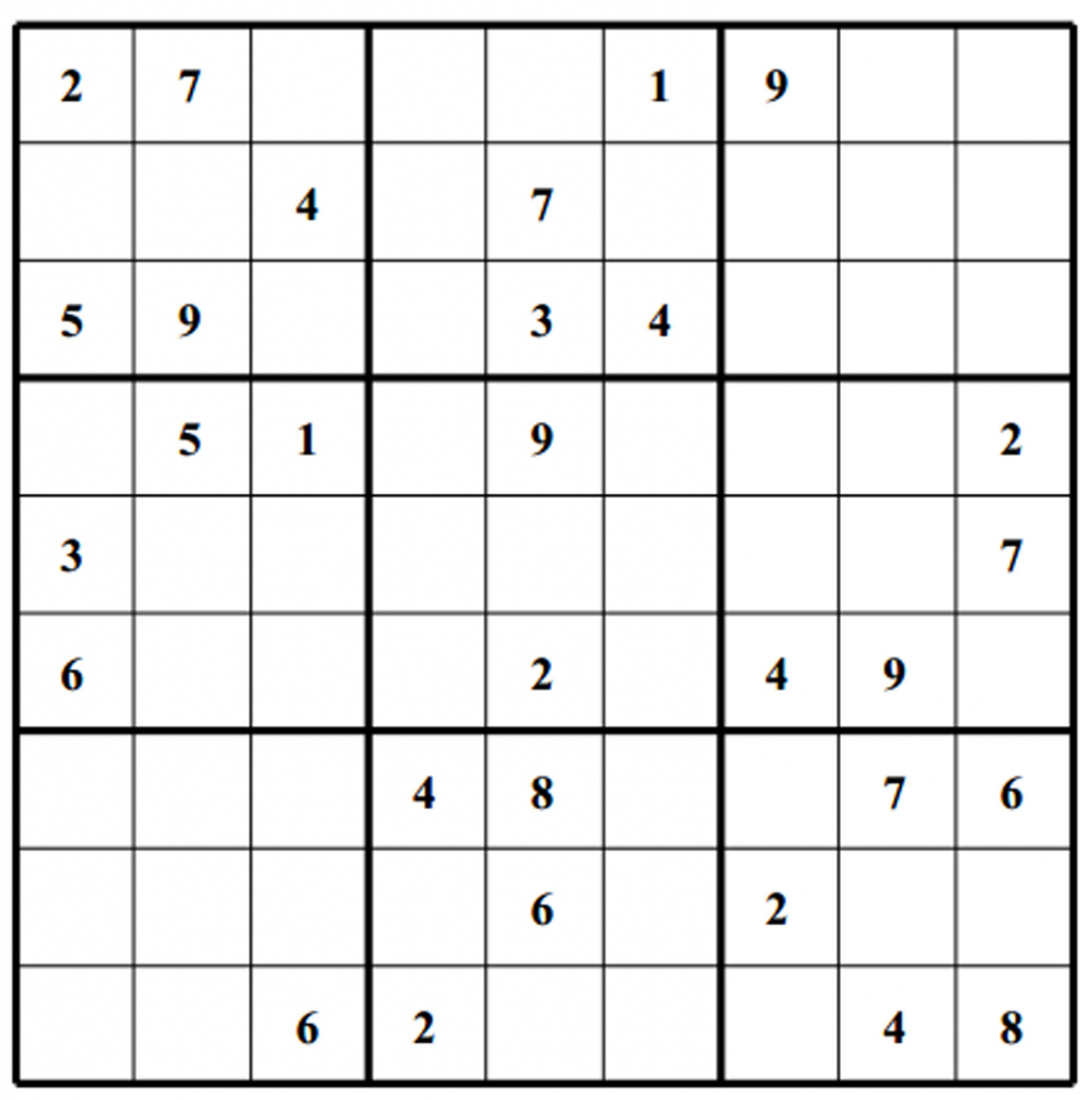 Sudoku Grids - Under.bergdorfbib.co | Printable Sudoku Grids