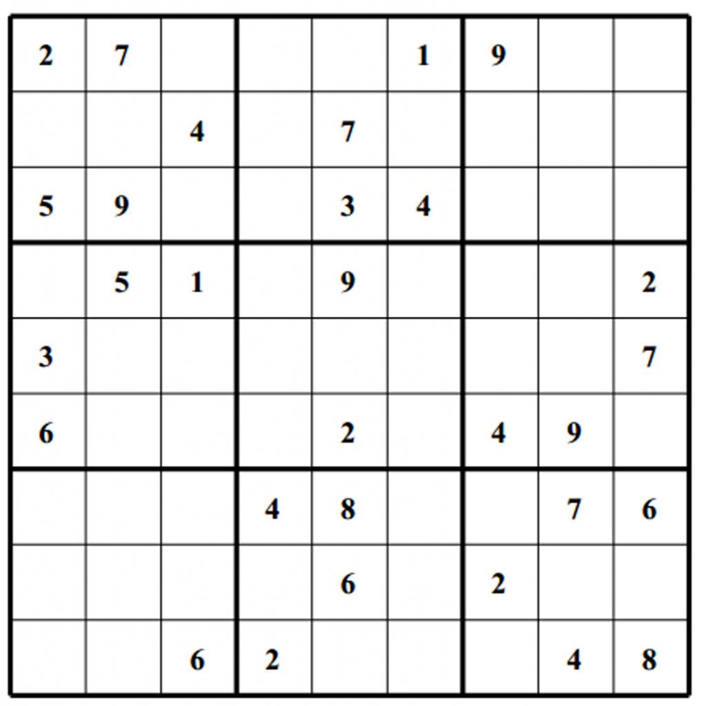 Sudoku Grids - Under.bergdorfbib.co | Printable Sudoku Grids
