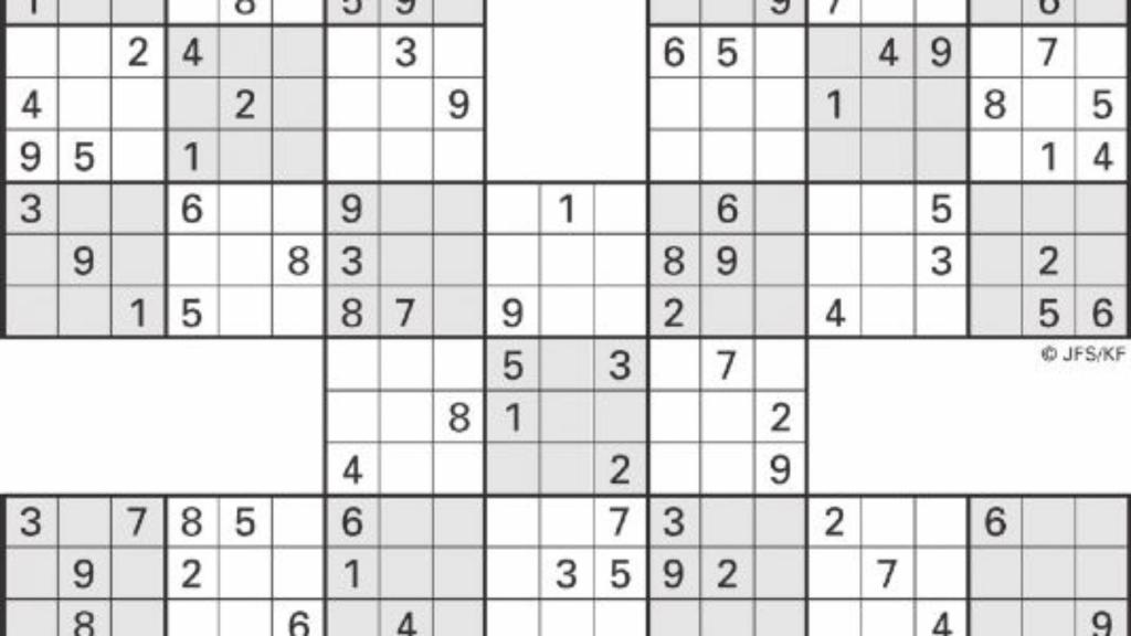 Sudoku High Fives | Activity Shelter | 6 Box Sudoku Printable