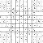 Sudoku High Fives Printable | Kiddo Shelter | 5 Grid Sudoku Printable