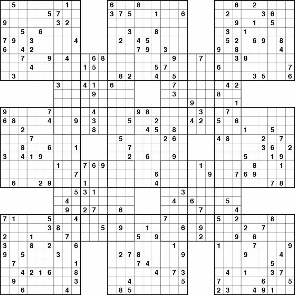 Sudoku High Fives Printable | Kiddo Shelter | Printable Samurai Sudoku Download