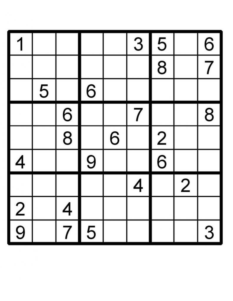 Sudoku Instant Download Printable Puzzle | Etsy | Printable Sudoku 2 Per Page Mild