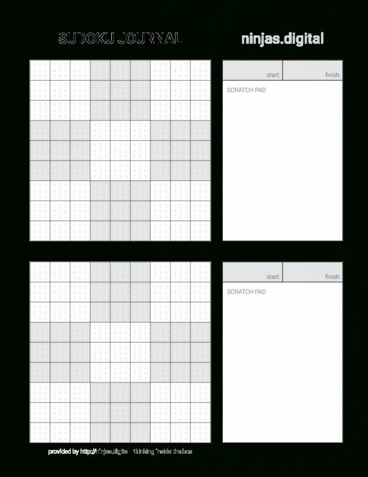 Printable Ninja Sudoku