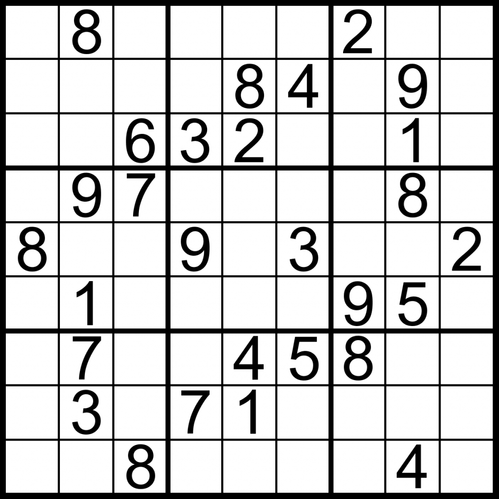 Sudoku | Maths | Sudoku Puzzles, Printable Puzzles, Puzzles For Kids | Printable Sudoku Puzzles Medium #3
