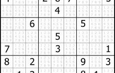 Printable Easy Sudoku 4 Per Page