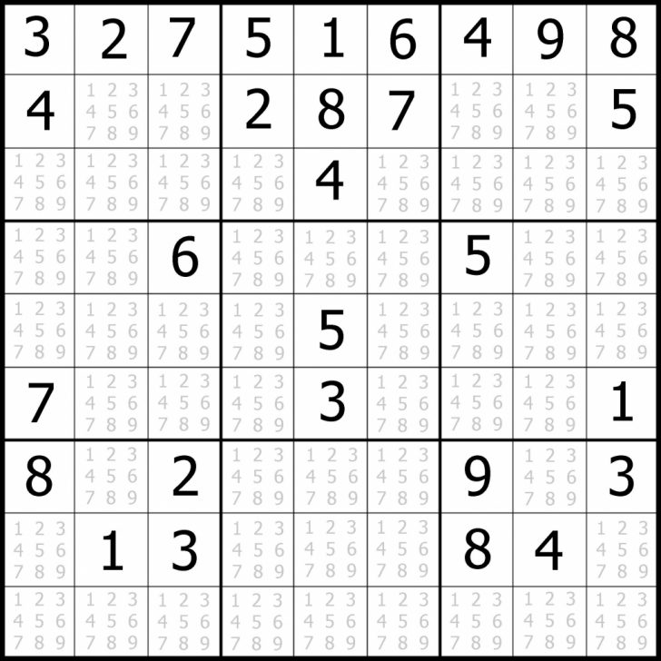 Printable Sudoku For Middle School