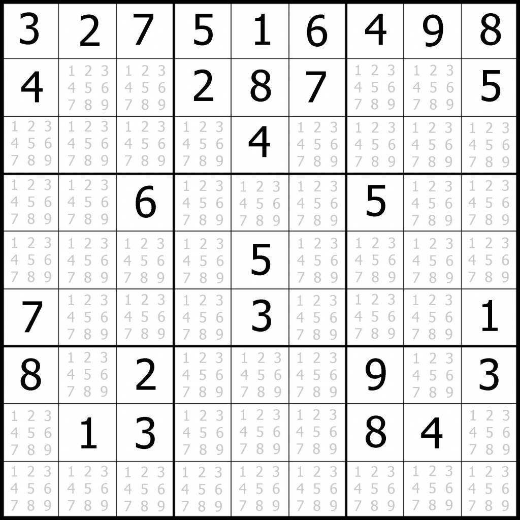 Sudoku Printable | Free, Medium, Printable Sudoku Puzzle #1 | My | Printable Sudoku Intermediate