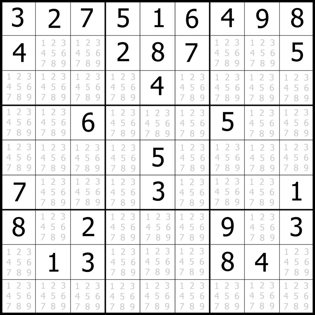 Sudoku Printable | Free, Medium, Printable Sudoku Puzzle #1 | My | Printable Sudoku Intermediate