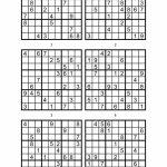 Sudoku Printable Medium 6 Per Pageaaron Woodyear   Issuu | Printable Sudoku 6 Per Page