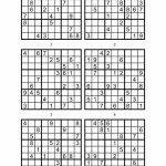 Sudoku Printable Medium 6 Per Pageaaron Woodyear   Issuu | Printable Sudoku 6 To A Page