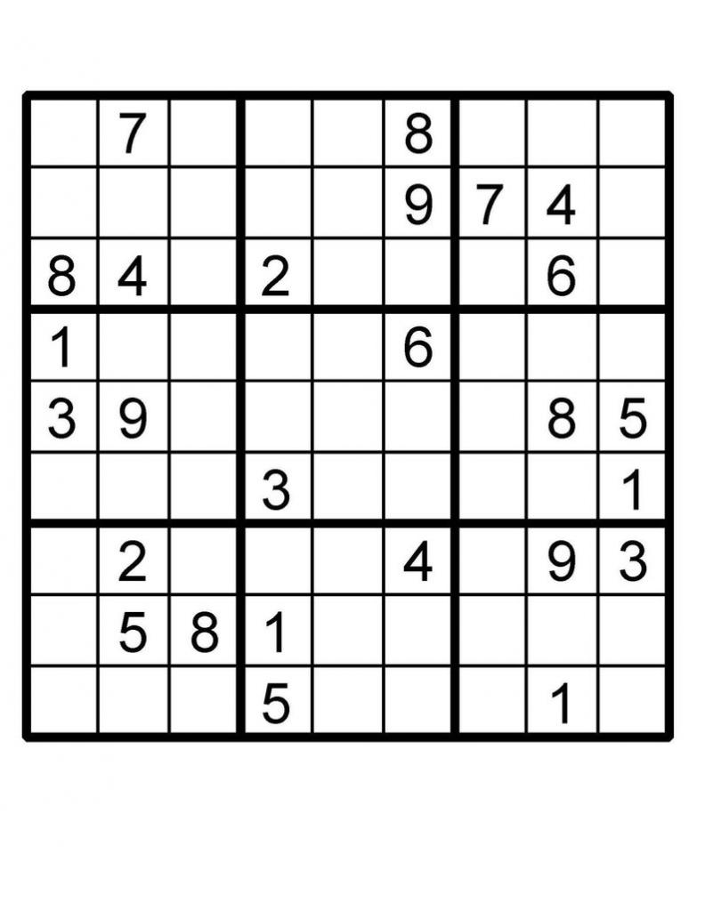 Sudoku Puzzle Sudoku Instant Download Printable Puzzle | Etsy | Printable Sudoku Puzzles Uk