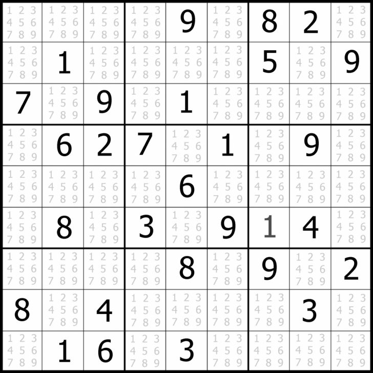 Printable Sudoku 4 Square Easy