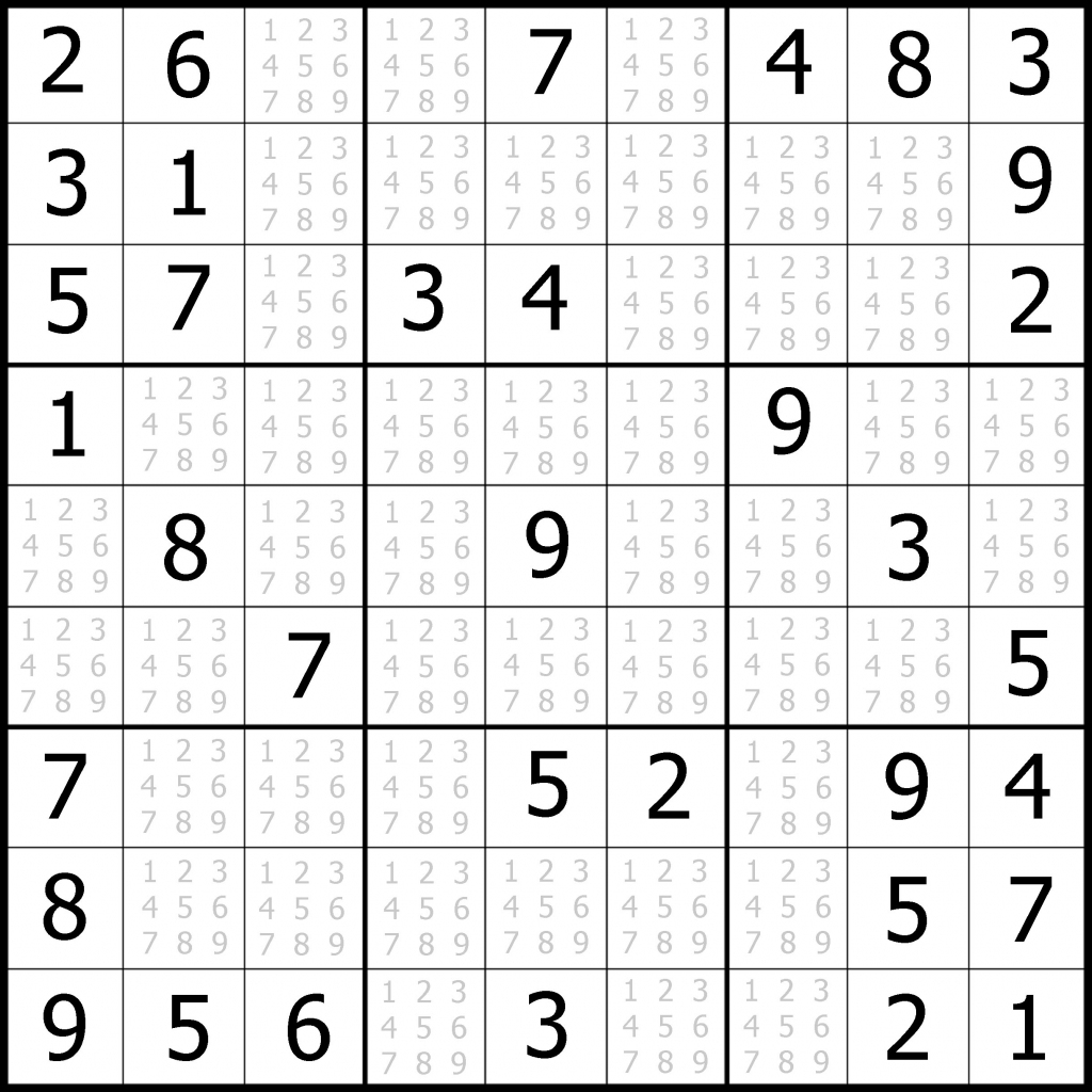 Sudoku Puzzler | Free, Printable, Updated Sudoku Puzzles With A | Printable Sudoku Hard #1
