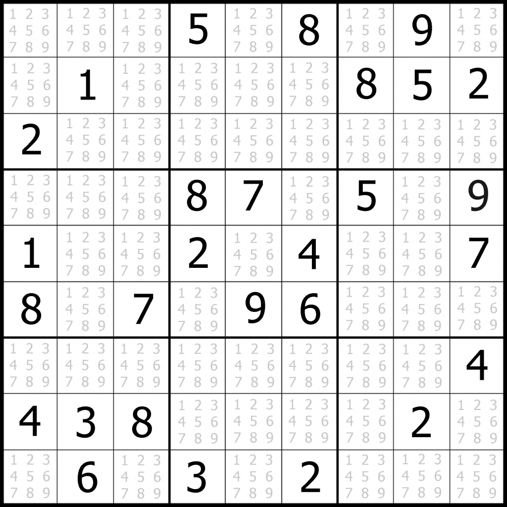 Sudoku Puzzler   Free, Printable, Updated Sudoku Puzzles With A   Printable Sudoku Hard #1