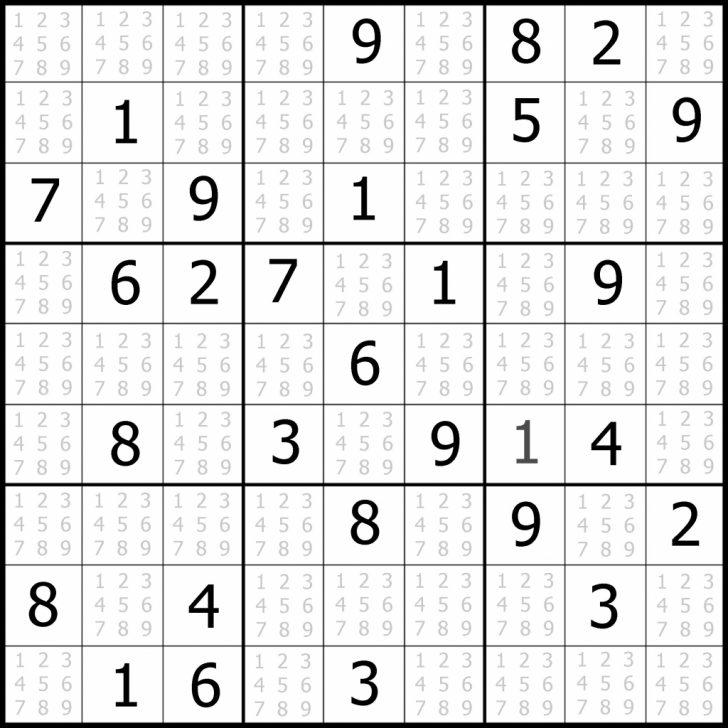 Printable Sudoku Medium Puzzles