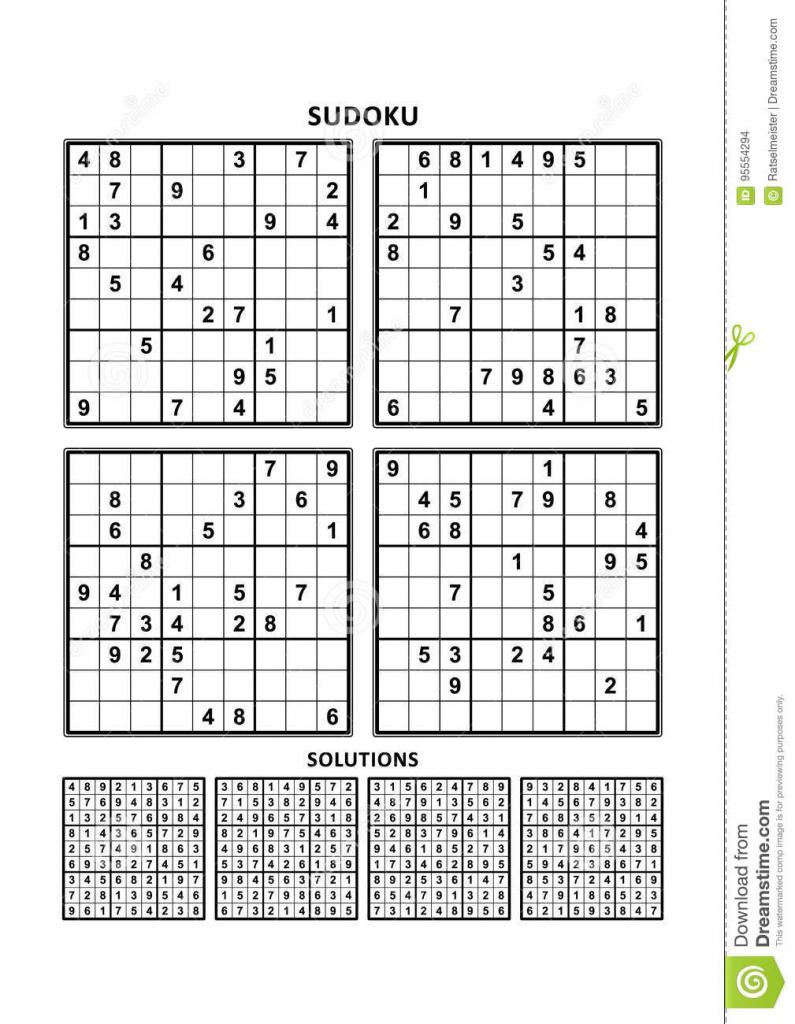 It is a photo of Effortless Sudoku Printable Pdf