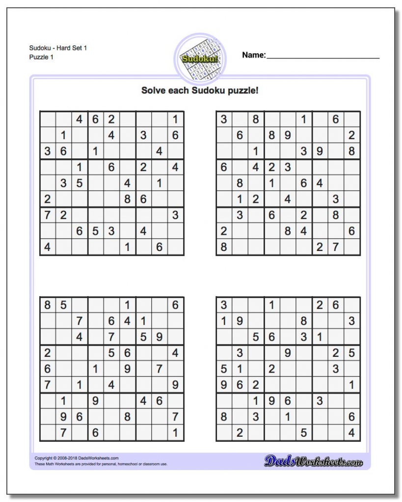 Sudoku Puzzles Printable | Ellipsis | Printable Sudoku Crossword