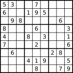 Sudoku   Simple English Wikipedia, The Free Encyclopedia | Printable Sudoku Puzzles 9X9