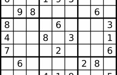 Sudoku – Simple English Wikipedia, The Free Encyclopedia | Printable Web Sudoku