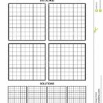Sudoku Template, Four Grids With Solutions On A4 Or Letter Sized | Sudoku Printable A4