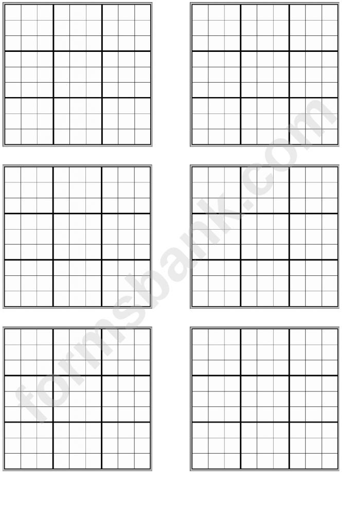 Sudoku Template - Under.bergdorfbib.co | Printable Blank Sudoku Template