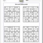 Sudoku Templates   Under.bergdorfbib.co | Printable Sudoku Four Per Page