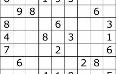 Printable Diagonal Sudoku