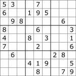 Sudoku   Wikipedia | Printable Sudoku Grids Blank 4 Per Page