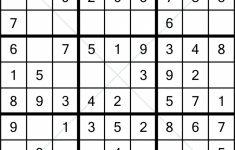 Printable Sudoku 25X25 Numbers