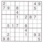 Super Challenger Sudoku Printable Puzzles | Printable Sudoku Super Challenger