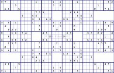 Printable Combination Sudoku