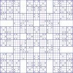 Super Samurai Sudoku 13 Grids | Printable Diagonal Sudoku