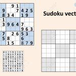 Symmetrical Sudoku With Answers. Vector Set Sudoku. Blank Template | Printable Sudoku 2 Per Page Blank