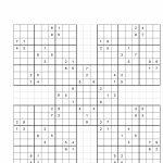 Template: Printable Sudoku Grids | Printable Samurai Sudoku Hard