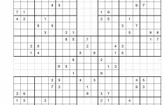 Printable Samurai Sudoku Hard