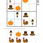 Thanksgiving Sudoku Puzzle | Free Printable Thanksgiving Sudoku