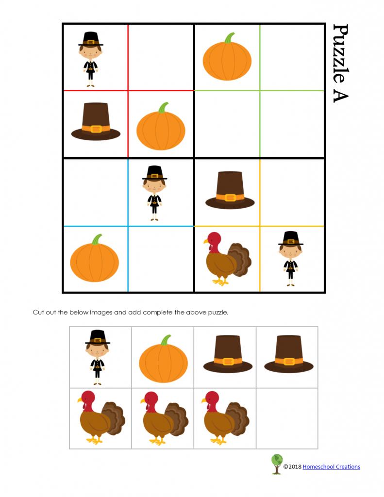 Thanksgiving Sudoku Puzzle | Free Printable Thanksgiving Sudoku