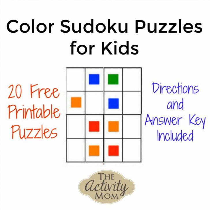Printable Sudoku For 5 Year Olds