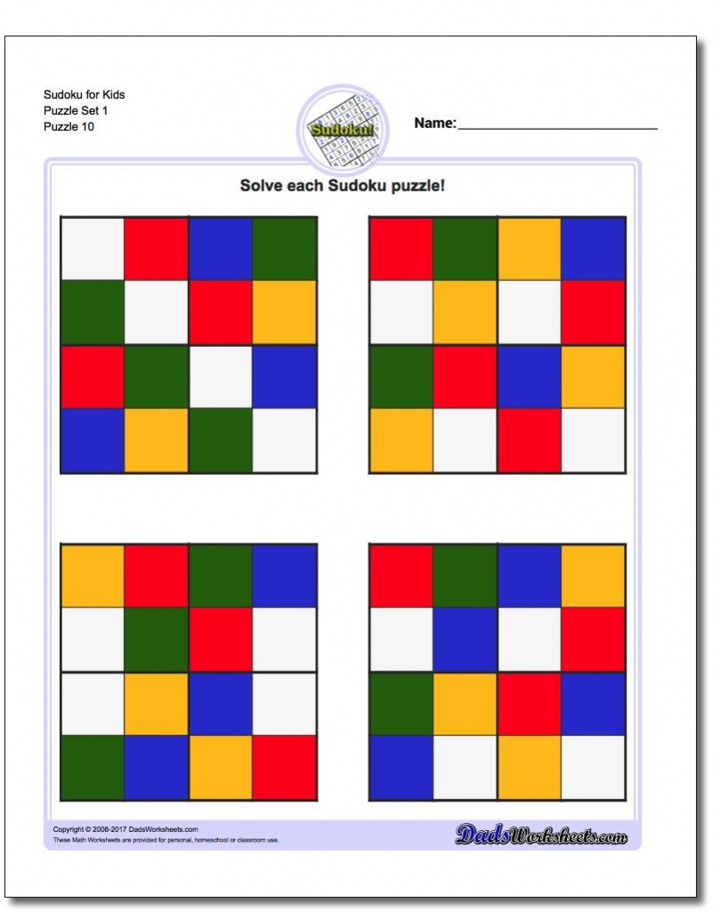 These Printable Color Sudoku Puzzles For Kids Are The Perfect Way To | Printable Cube Sudoku Puzzles