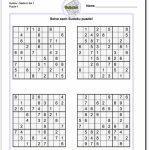 These Printable Sudoku Puzzles Range From Easy To Hard, Including | 4 Printable Sudoku Medium Level Sudoku