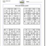 These Printable Sudoku Puzzles Range From Easy To Hard, Including | Printable Sudoku 1 6