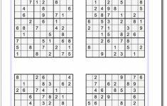 Printable Sudoku 4 By 4