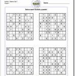 These Printable Sudoku Puzzles Range From Easy To Hard, Including | Printable Sudoku 4 Per Page Easy