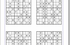 Printable Sudoku Puzzles 8 Per Page