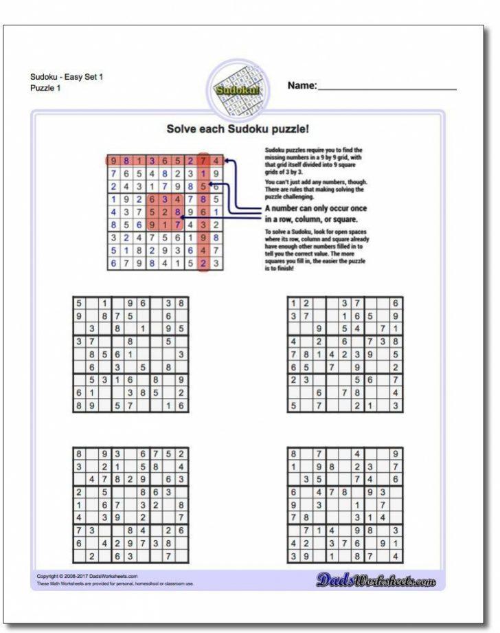 Printable Sudoku Sheets Pdf
