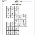 These Printable Sudoku Puzzles Range From Easy To Hard, Including | Printable Sudoku Six Per Page