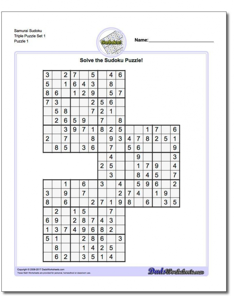 These Printable Sudoku Puzzles Range From Easy To Hard, Including | Sudoku Printable Third Grade