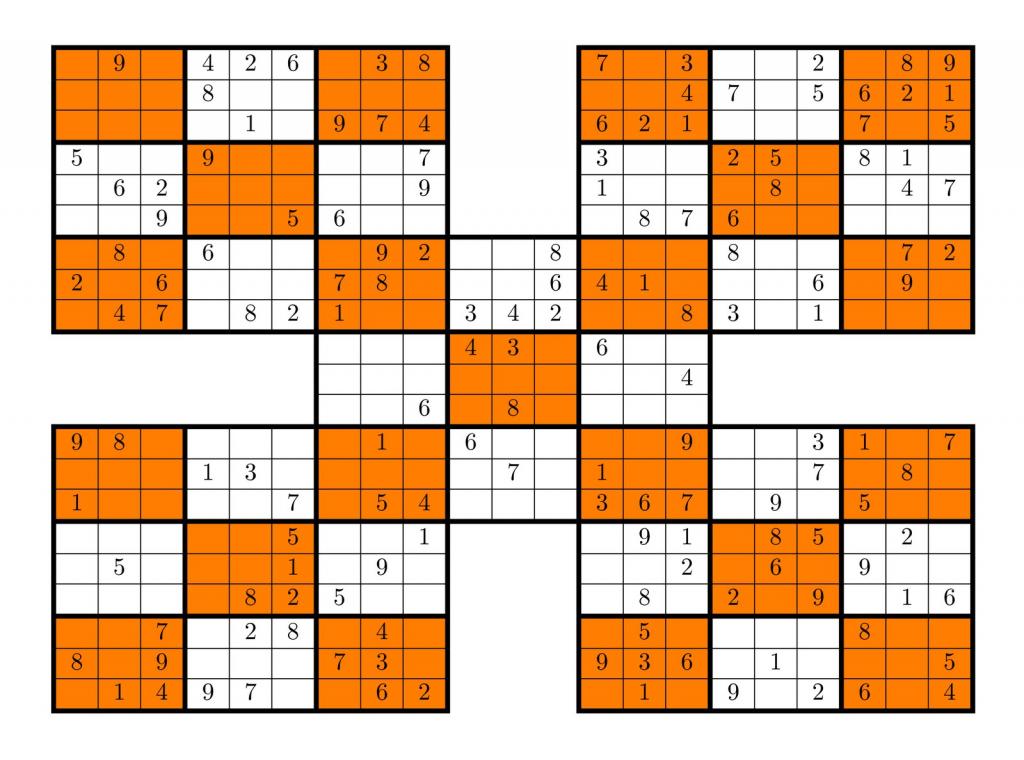 Tirpidz's Sudoku: #360 High Five Sudoku 9 X 9 | Printable Mega Sudoku 16X16