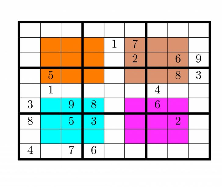 Printable Hyper Sudoku