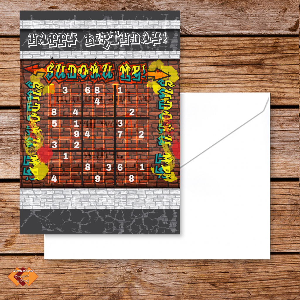 Verjaardag Wensen In Wiskunde Stijl Sudoku / Happy Birthday | Etsy | Printable Sudoku For Ks2